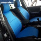 TWO FRONT CUSTOM BLUE/BLACK DIAMOND SYNTHETIC CAR SEAT COVERS (Fits BMW 3 SERIES F30 2012-.....)