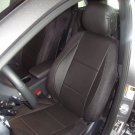 MIX LEATHERETTE & SYNTHETIC TWO FRONT BLACK CAR SEAT COVERS  fits Toyota Hilux 2015–...... truck