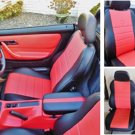 LEATHERETTE TWO FRONT RED CUSTOM CAR SEAT COVERS fits MERCEDES SLK-CLASS 1996–2004