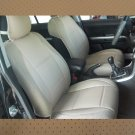 LEATHERETTE & SYNTHETIC TWO FRONT TAN (BEIGE) CAR SEAT COVERS  fits Toyota Hilux 2015–...... truck