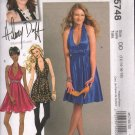 OOP McCall's 5748 Hillary Duff  Misses' Lined Dresses SIZES 12-14-16-18 UNCUT/FF