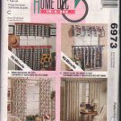 OOP McCall's 6973 Home Dec In-A-Sec Window Treatments Pattern w/ 4 Options FF