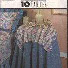 OOP Simplicity 8418 12 Instruction Card Set Table Covers, Toppers, Runners & Napkins EUC