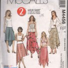 OOP McCall's 4456 Misses' Pull-On Handkerchief Asymmetrical Skirts SIZES XS-S-M  UNCUT/FF