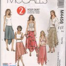 OOP McCall's 4456 Misses'/Misses PT Pull-On Handkerchief Asymetrical Skirts L-XL  FF