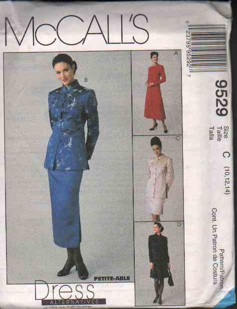 McCall�s 9529 Misses� Lined Jacket /Dress & Skirt In Two Length Options Sizes 10-14 OOP FF