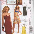 OOP McCall's 5881 Misses' DIY Style Close-Fitting Dresses In Four Design Options SZ 12-18 FF