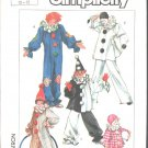 Simplicity 7649  Boys' & Girls' Clown Costumes & Hats Vintage Pattern Sz Fits 10-12  OOP EUC