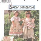 OOP Simplicity 7029 Daisy Kingdom Child's Pinafore Dress & Doll Dress for 17 inch Doll Sz 5-8 Used