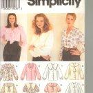 OOP Simplicity 8620 Misses' Blouses EUC Size 18