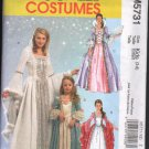 FF McCall's  Girls' Princess Costumes  Sz 3-8