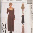 OOP MCCALLS 7827 NY COLLECTION  MISSES' DRESS IN TWO LENGTHS SIZES 8-10-12