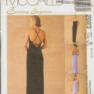 OOP MCCALL'S 2023 MISSES' LINED GOWN SIZES 8-10-12 UNCUT/FF