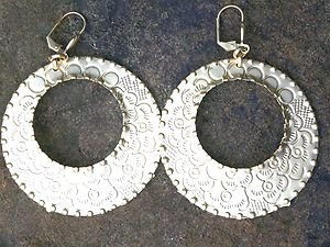 Turkish Jewelry Gold  Hoop Earrings~hand Made In Turkey NWT! Absolutely Stunning