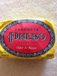 Brazilan Soap PHEBO Odor De Rosas SOAPPHEBO BAR SOAP~from Brazil~new