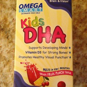 Omega Smart Kids DHA Ultimate Fish Oil 60 Chewable Softgels Fruit Punch-New!