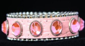 Pink Leather Cuff~ BLING Adjustable Bracelet~ NWT Retail $35+VERY CUTE!!