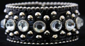 WIde Black Leather Cuff Bracelet Adjustable Cuff - NWT Retails For $39+