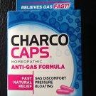 Anti Gas Charco Caps Homeopathic Anti-Gas Formula, NEW