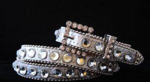 Sliver Bling Skinny Belt~Genuine Leather & Austrian Crystal~NWT~ALL Sizes!!