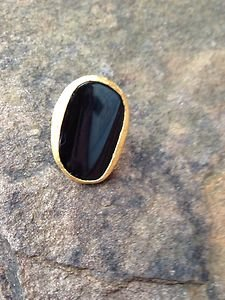 Turkish Ring with LARGE GENUINE ONYX Stone~~ From Turkey!! STUNNING!!