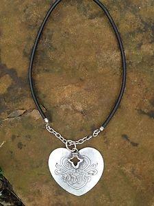 Turkish Jewelry HeartNecklace Zamac Hand  Made In Turkey~NWT Turkey! Beautiful