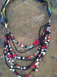 Turkish Jewelry Necklace~Adorned in Semi Precious Gemstones~Gorgeous!!