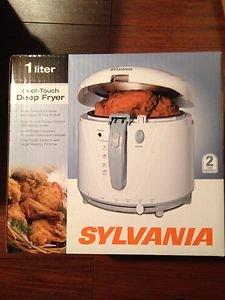 Sylvania 1 Liter Cool-Touch Deep Fryer Meat Cooker Gourmet Kitchen Appliance New