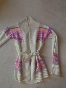 Justice GIRLS LONG SLEEVE Tie wrap SWEATER  WITH TIE BELT SIZE 16~NWT!! Pinks