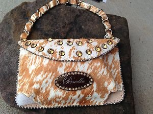 Cell PURSE Clutch Golds Genuine LEATHER Austrian Crystal NWT~BEAUTIFUL!!