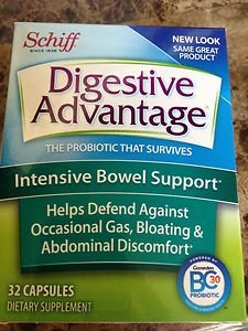 Probiotic SCHIFF DIGESTIVE ADVANTAGE, INTENSIVE BOWEL SUPPORT, 32 CAPSULES