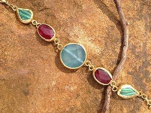 Turkish Jewelry-Bracelet Genuine Jade 24k Gold Plated Over Brass From Turkey NWT