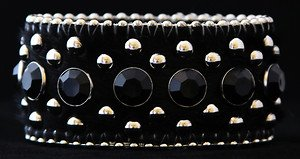 Black WIDE Leather CUFF  ~Adjustable NWT!! VERY Cute!!! ~Hair on Hide~Gorgeous!!