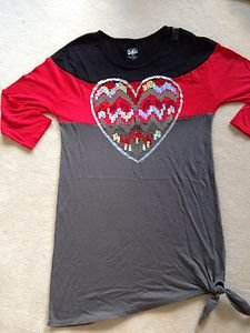JusticeDRESS~Heart ~Girls Size 18-CUTE~NWT~Amazing PRICE! GREAT W/ LEGGINGS!!