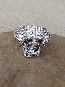 """Elephant JEWELRY~  Ring WITH CRYSTALS~STETCH Style~""""SUPER CUTE"""" NEW never worn!!"""