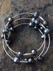 Gray Genuine FRESHWATER PEARL Wrap BRACELET NWOT~Unique ~Amazing Price!!!