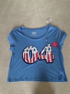 Justice Girls Red White & Blue Layer Me Crop Top~Brand New With Tag~SZ 10!