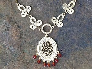 Turkish Jewelry Necklace~Genuine Orange Carnelian~Very Unique!! perfect for Fall