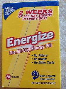 Energize Energy Tablets~28 TABLETS~ FACTORY SEALED!! EXP 11-2014