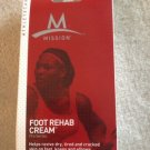 MISSION Foot Rehab Cream Revives Cracked Skin on Feet, Knees, Elbows~New!