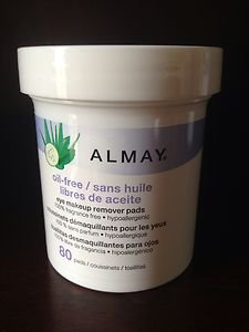ALMAY Moisturizing Eye Makeup Remover Pads Fragrance Free Hypoallergenic 80 Pads