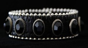 Black Skinny Leather Cuff Bracelet / Adjustable Snap Cuff~ new Never Worn! Cute!