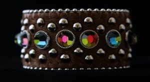 Wide Leather Brown Cuff With~hair on hide- new Never Worn!  CUTE!!