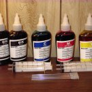 Bulk universal refill ink for EPSON, HP, BROTHER, CANON inkjet printer, 100ml x 5 bottles