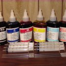 Bulk refill ink for EPSON ink printer, 100ml x 6 bottles(BK, C, M, Y, Light Cyan, Light Magenta)
