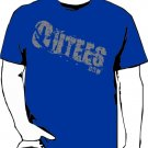 Blue Outees 2XL-3XL Diagonal Logo Large Front Design Inside-Out