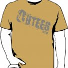 Khaki Outees S-XL Diagonal Logo Large Front Design Inside-Out
