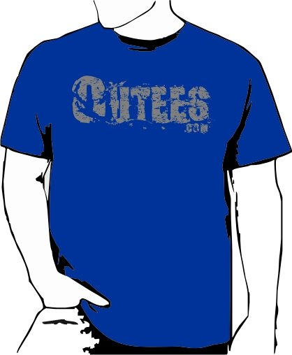 Blue Outees 2XL-3XL Large Front Logo Design Inside-Out