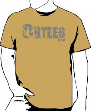 Khaki Outees 2XL-3XL Large Front Logo Design Inside-Out