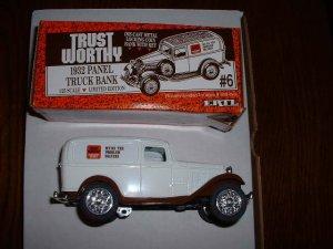 Trustworthy truck 6--1990  ERTL bank--Made in USA--1:25 scale